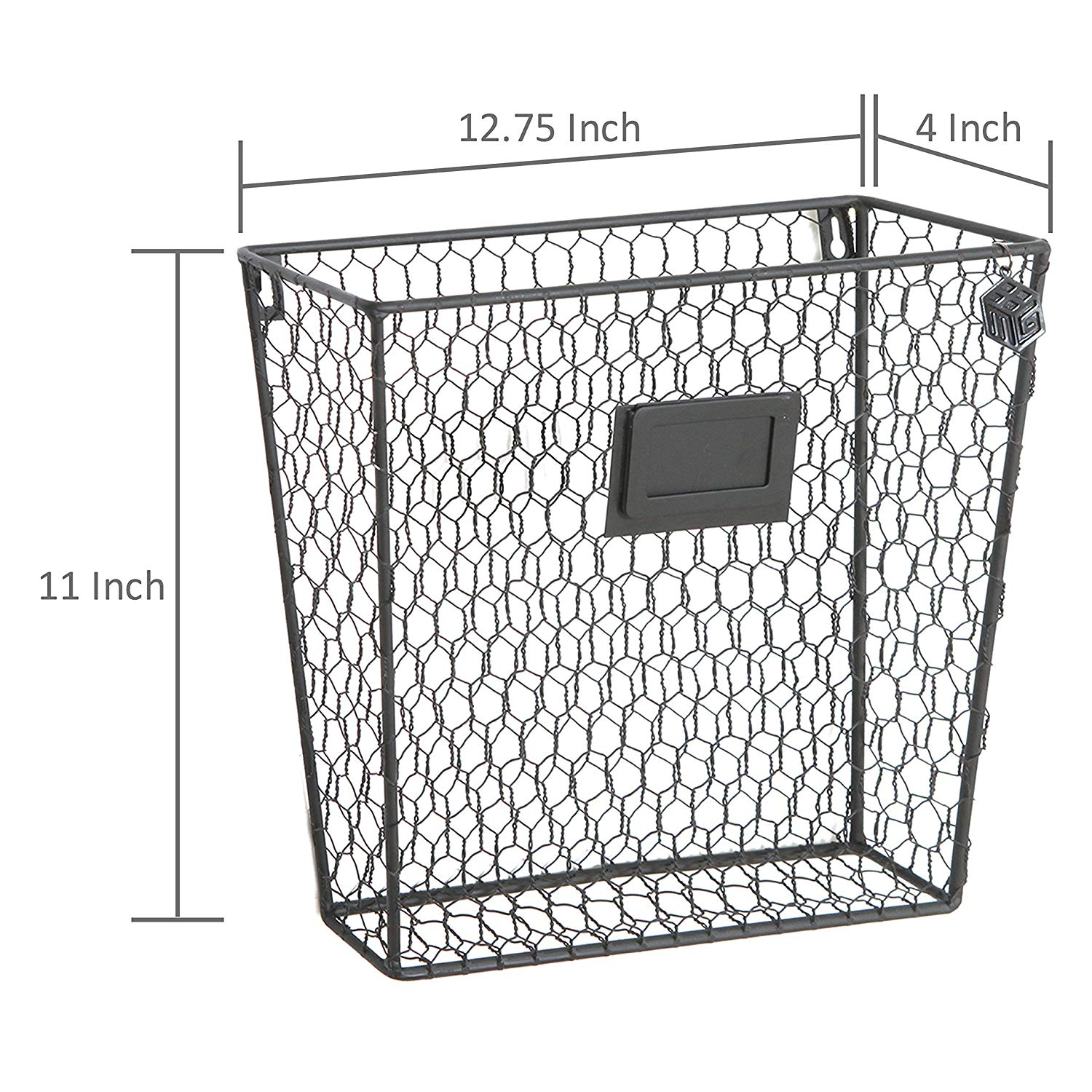 Wall Mounted Wire Baskets Set Of 3