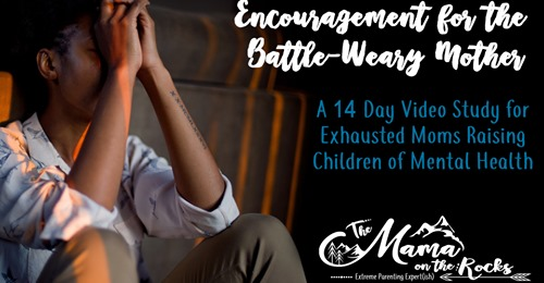 Encouragement for Battle-Weary Moms | The Mama On The Rocks